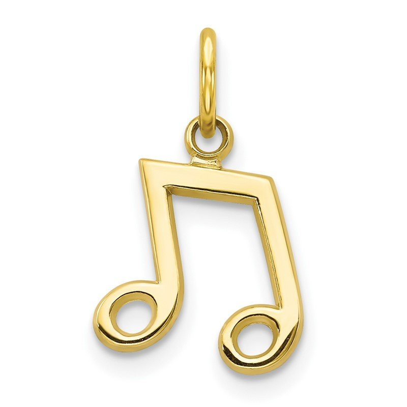 Quality Gold 10k Musical Note Charm
