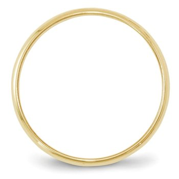 10KY 2mm LTW Half Round Band Size 10