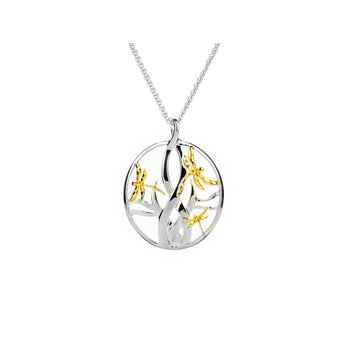 Dragonfly in Reeds Pendant Small