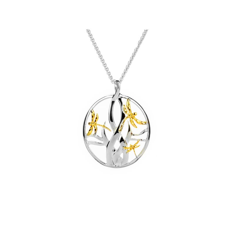 Keith Jack Dragonfly in Reeds Pendant Small