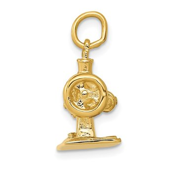 14K 3D Antique Sewing Machine Charm