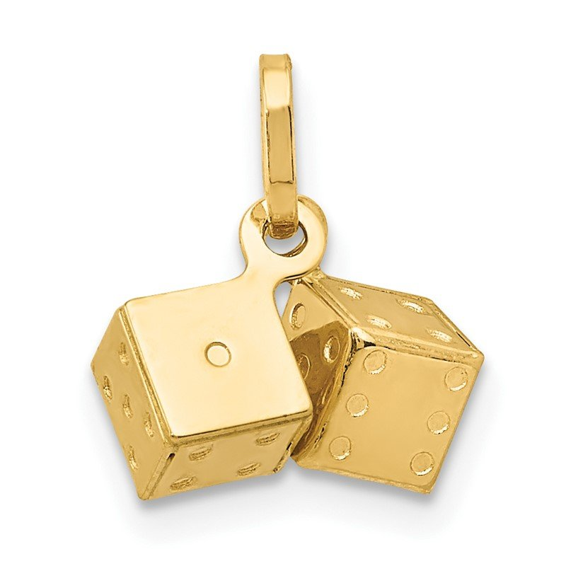 Quality Gold 14k 3D Dice Charm