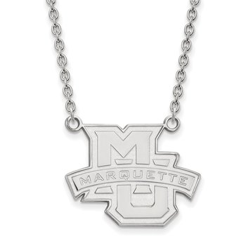 Sterling Silver Marquette University NCAA Necklace