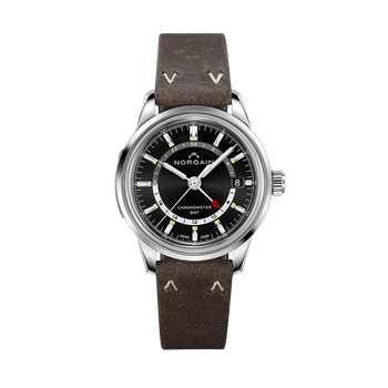 Freedom 60 GMT - Ebony Leather Strap