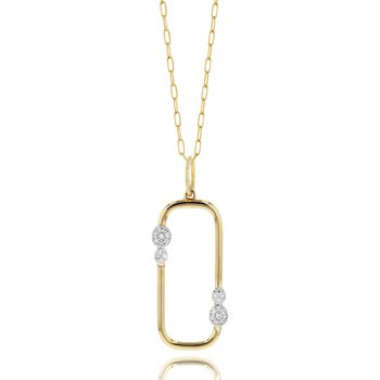 Yellow gold diamond Infinity Link necklace