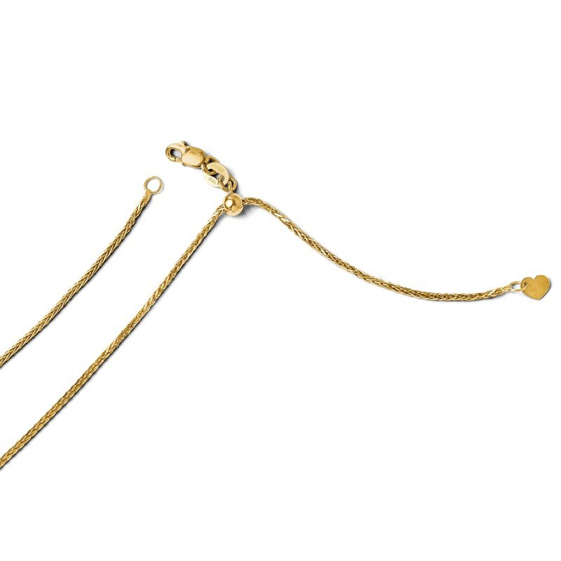 Leslie's Leslie's 14K Adjustable 1.2mm D/C Wheat Chain