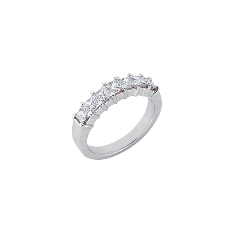 S. Kashi & Sons Bridal White Gold Princess Band