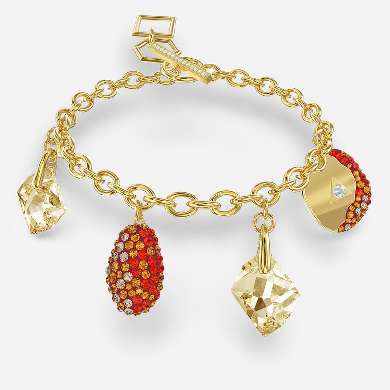 Swarovski The Elements Bracelet, Red, Gold-tone plated