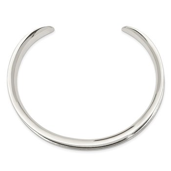 Sterling Silver 8.5mm Cuff Bangle