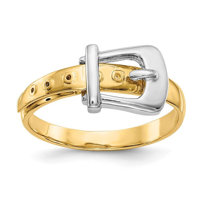 Quality Gold 14k Two-Tone Polished Buckle Ring