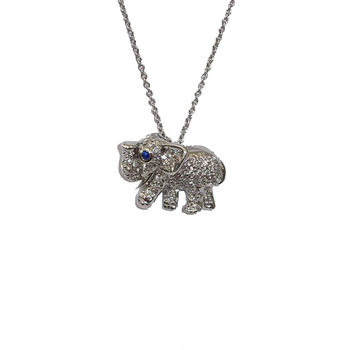 18KT GOLD DIAMOND ELEPHANT PENDANT