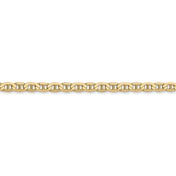 14k 3mm Concave Anchor Chain Anklet