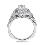 Valina Halo Engagement Ring Mounting in 14K White Gold (.72 ct. tw.)