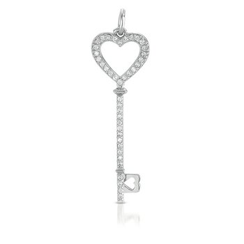 White Gold Key Charm 46mm