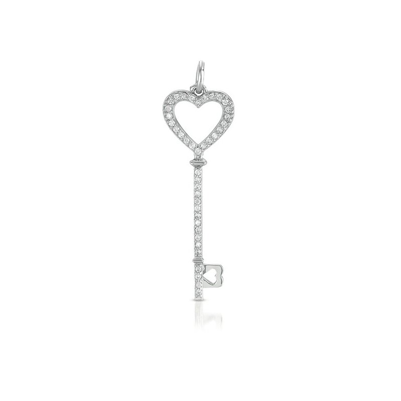 S. Kashi  & Sons White Gold Key Charm 46mm