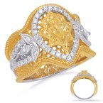 S. Kashi  & Sons Yellow White & Yellow Dia Fashion Ring