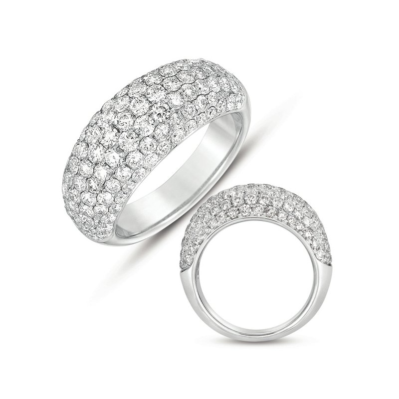 Briana White Gold Pave Wedding Band