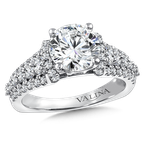 Valina Diamond Engagement Ring Mounting in 14k White Gold (.87 ct. tw.)