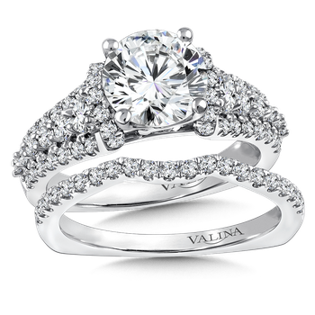 Diamond Engagement Ring Mounting in 14k White Gold (.87 ct. tw.)