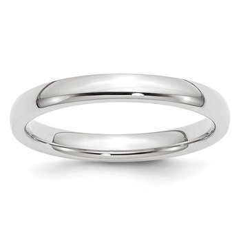 14k White Gold 3mm Comfort-Fit Band