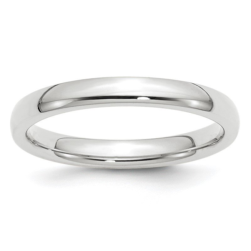 Quality Gold 14k White Gold 3mm Comfort-Fit Band