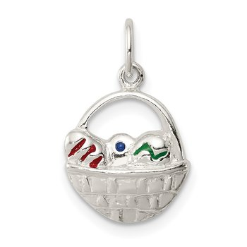 Sterling Silver Enameled Easter Basket