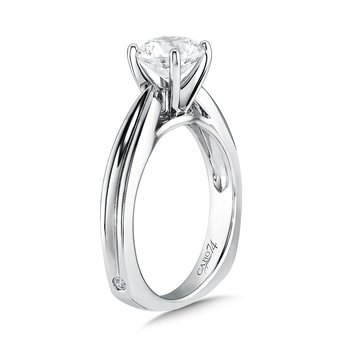 Classic Elegance Collection Round Solitaire Engagement Ring in 14K White Gold with Platinum Head (1-1/4 ct.)