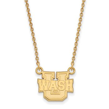 Gold Washington University in St. Louis NCAA Necklace