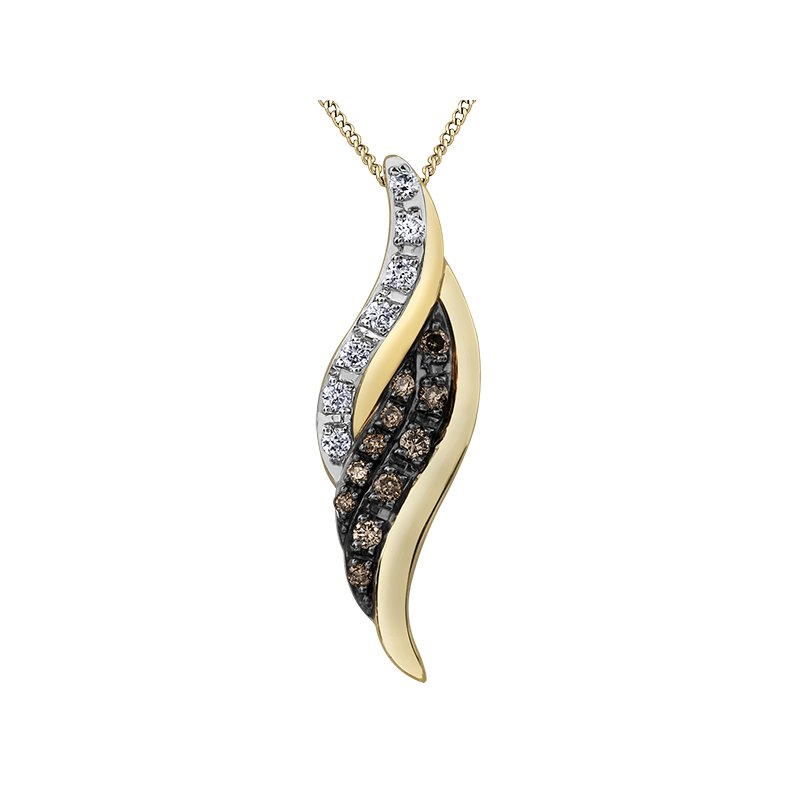 D of D Signature Nat Brown Diamond Pendant