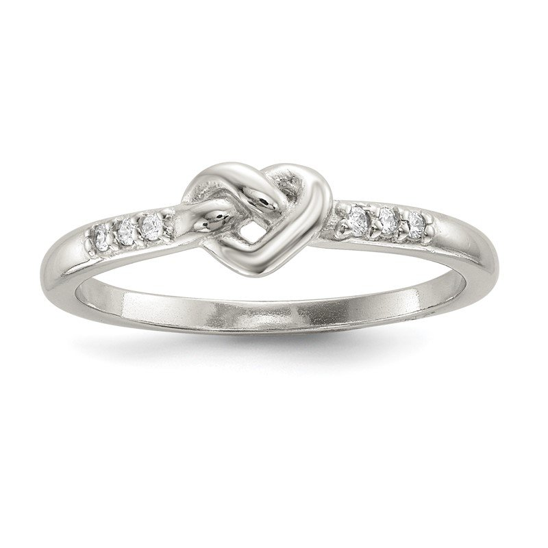 Quality Gold Sterling Silver CZ Heart Ring