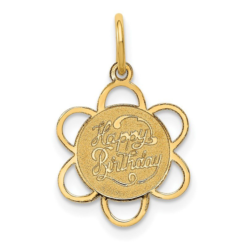 Quality Gold 14K HAPPY BIRTHDAY Charm