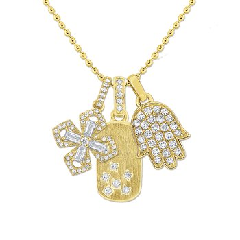14K Gold and Diamond Bodyguards Necklace