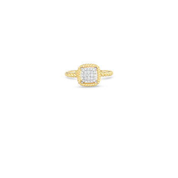 18KT NEW BAROCCO SQUARE SHAPE DIAMOND RING