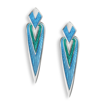 Sterling Silver Arrowhead Stud Earrings-Turquoise.
