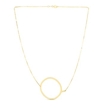 14K Gold Large Initial Q Necklace
