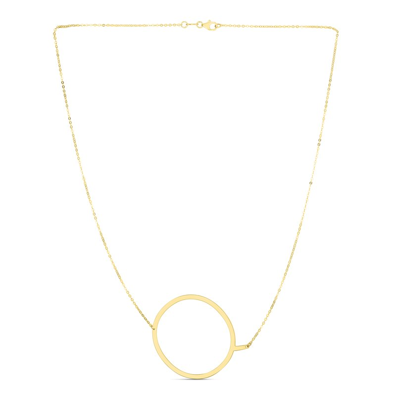 Royal Chain 14K Gold Large Initial Q Necklace