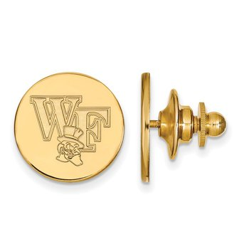 Gold Wake Forest University NCAA Lapel Pin