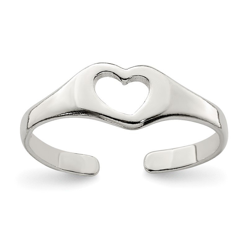 Quality Gold Sterling Silver Heart Toe Ring