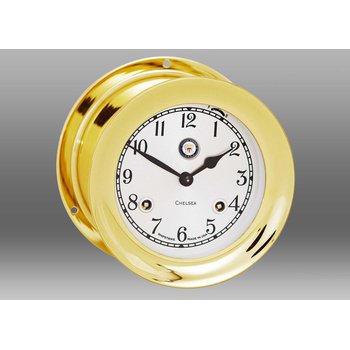 "US Navy 4 1/2"" Shipstrike Clock in Brass"