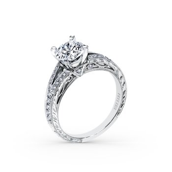 Split Shank Timeless Diamond Engagement Ring