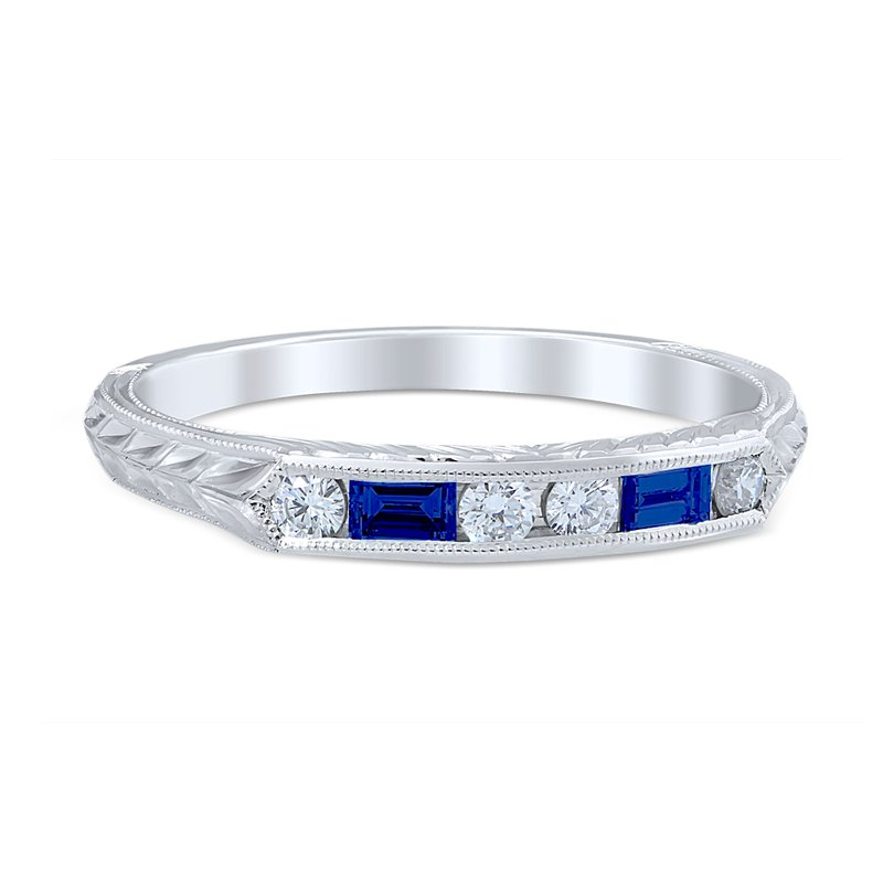 Whitehouse Brothers Lucia Wedding Ring Sapphire