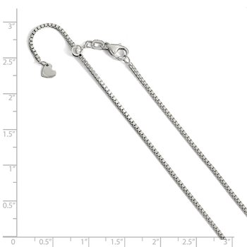 Leslie's 14K White Gold 1.20mm Adjustable Box Chain