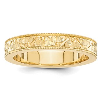 14k fancy wedding band