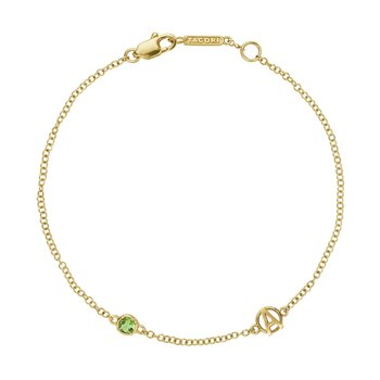 The Gemstone & Monogram Bracelet w/ Peridot