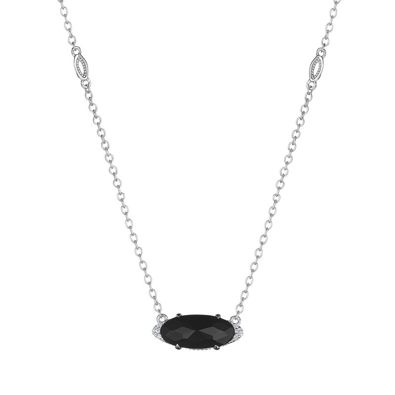 Tacori Fashion Solitaire Oval Gem Necklace with Black Onyx