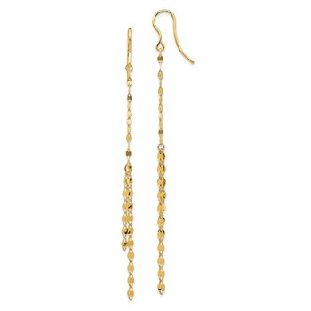 14K Fancy Dangle Earrings