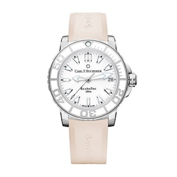 Patravi ScubaTec 37mm Stainless Rose Strap Womens Watch