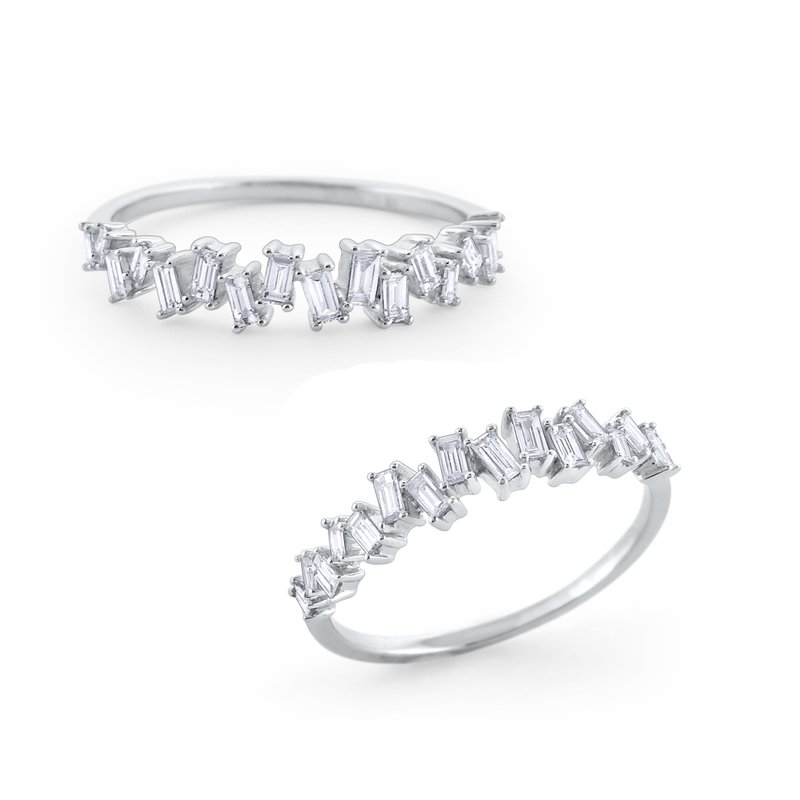 KC Designs Scattered Diamond Mosaic Ring Set in 14 Kt. Gold