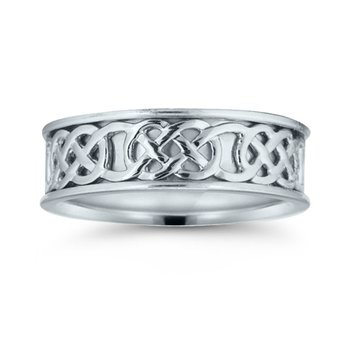 Mens Celtic Wedding Band