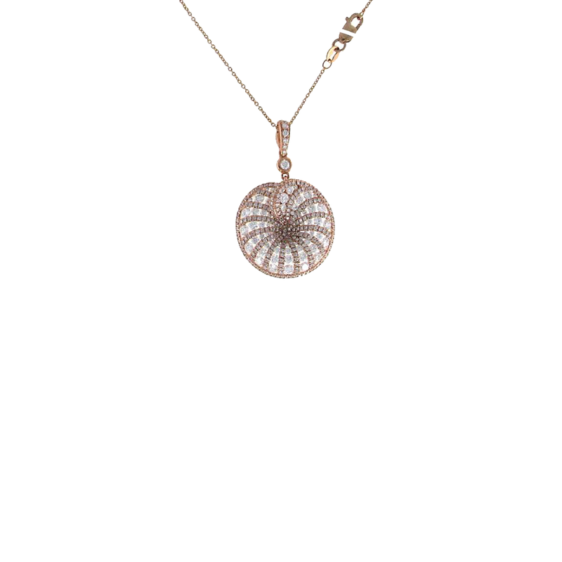 Roberto Coin 18KT ROSE GOLD DIAMOND NECKLACE